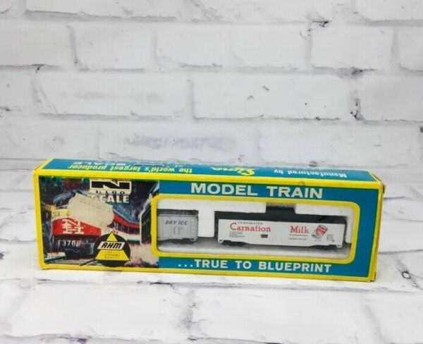 Vintage Ahm Carnation Milk Box Freight Train Dry Therm Ice Italy Sima In Box Car $10.47