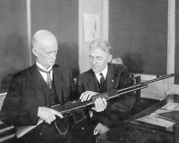 John Moses Browning Automatic Rifle Factory Winchester 1918 8x10 Photo J-256
