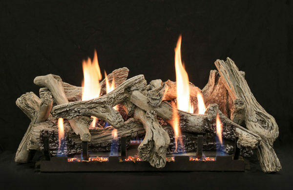 Empire Driftwood Burncrete Vent Free Logs24