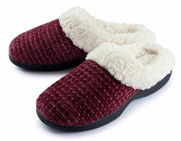 Roxoni Women's House Slippers Knit Fleece Lined Cozy Clog House Shoes $15.99