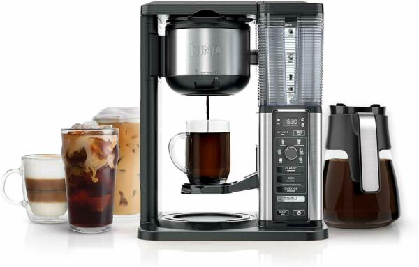 Ninja CM401 Specialty Fold-Away Frother Coffee Maker, Single Serve to 10 Cup