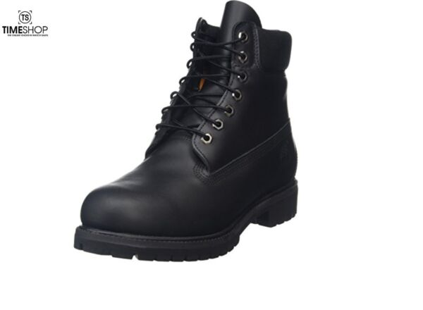 Timberland Mens 6 inch Waterproof Boot Black Smooth 11 W US Damaged Box $109.95