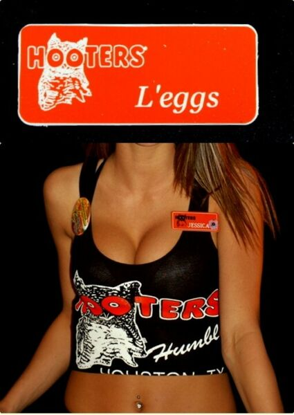 Hooters Uniform  L'eggs Name Tag Pin Sexy Hot Badge Costume lingerie Extra