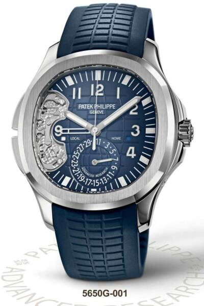 Patek Philippe NEW Aquanaut Advanced Research 18k White Gold 5650G DOUBLE SEALED