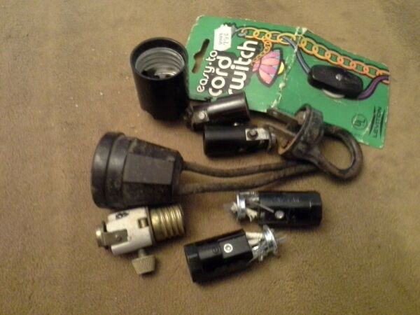 Vintage Sockets and assorted electric parts #3 $12.99
