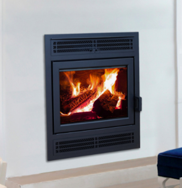 Supreme Astra 38 Zero Clearance Wood Burning Fireplace with Cast Iron Panels