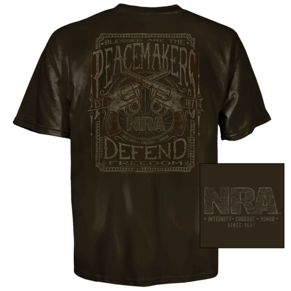 NRA Peacemaker T Shirt 2X Coffee $12.99