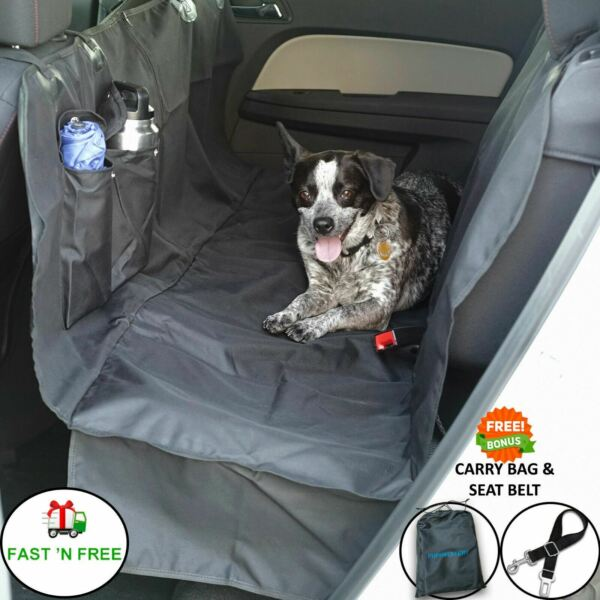 Dog Car Seat Cover for Cars Trucks SUV#x27;s. Waterproof Hammock Back Seat Cover $28.99