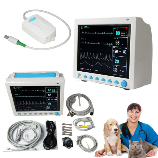 VET Portable Vital Sign Patient Monitor Multiparameter ICU CCU Capnography ETCO2
