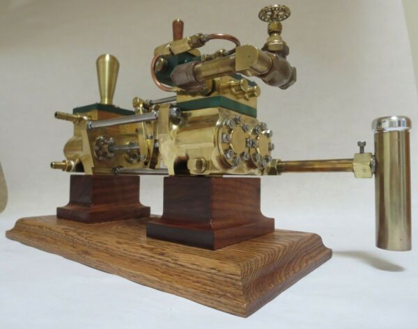 Steam Engine boiler feed pump open Southworth style w 8quot; long brass body $2200.00