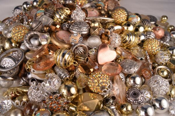 Fancy Bead Mix Metallic look Resin Metal Glass Beads BM302 $14.99