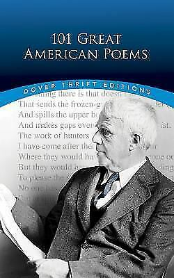 101 Great American Poems Dover Thrift Editions by Paperback