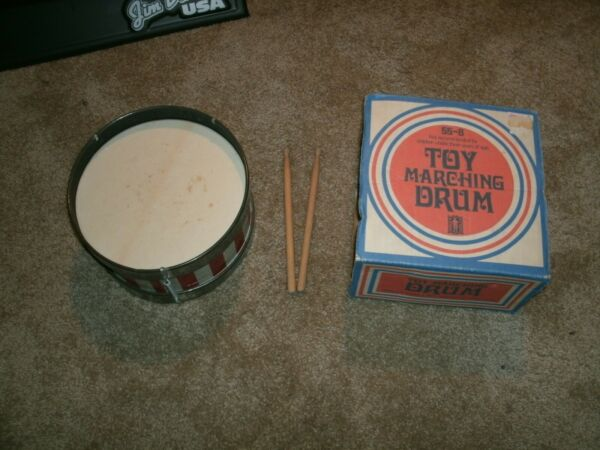 Noble amp; Cooley toy marching drum 55 8 with original box and sticks $50.00