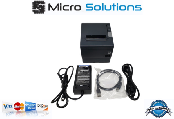 TM-T88V Epson M244A Receipt Printer RS232 w PS 180 Power Supply and USB cable