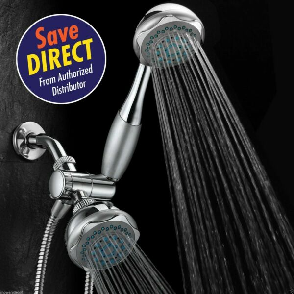 Hydroluxe® Deluxe 24-setting 3-way Overhead  Handheld Shower Combo Chrome