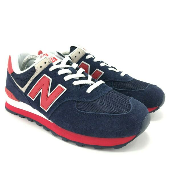 New Balance Men's 574 v2 Essentials Pigment Blue Team Red Lifestyle Sneakers