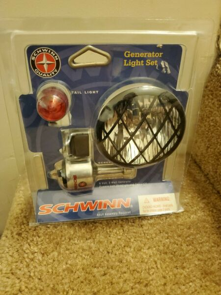 BICYCLE GENERATOR LIGHT COMPLETE SET FIT SCHWINN FRONT amp; REAR TAIL LIGHT $64.99