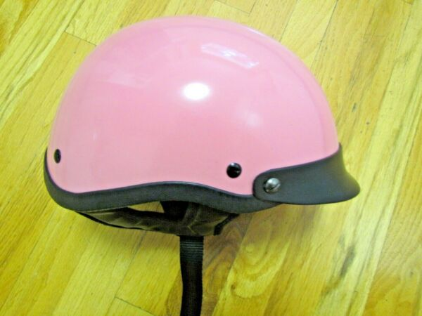 BSR HCI 100 Pink Motorcycle Half Helmet with Visor - ABS Shell Model 100 Size M