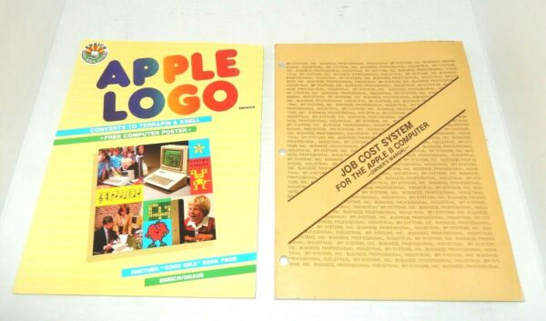 Vintage Apple II Computer Job Cost System Manual And Apple LOGO Book $12.59