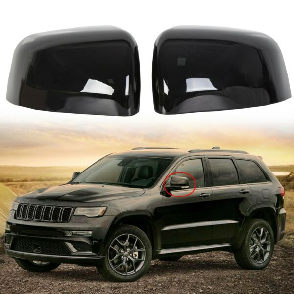 Black Mirror Covers For 2011-2019 2020 Jeep Grand Cherokee Dodge Durango