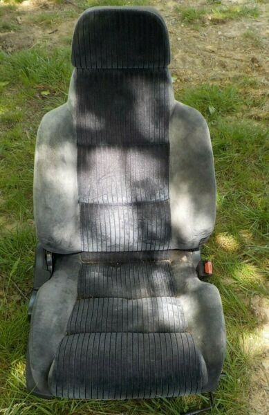 88 91 Honda Prelude Black Clean Front Passenger Right Seat w Tracks