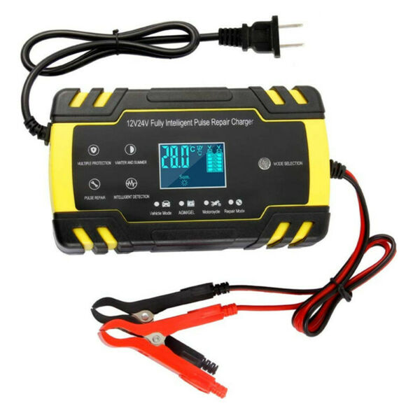 Automatic LCD Display Fast Charging Motorcycle Battery Charger Maintainer Tool $35.80