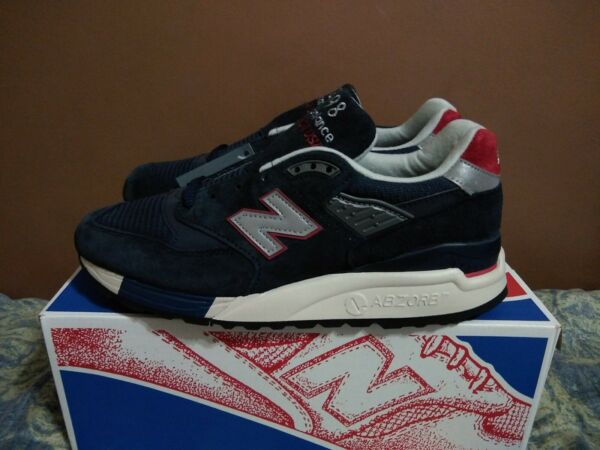 J Crew X New Balance 998 M998JC1 Navy Suede Sneakers Mens Size 11 Made In USA