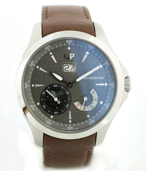 Girard Perregaux 49650 Traveller Large MoonPhases Leather Automatic Men's Watch $6,550.00