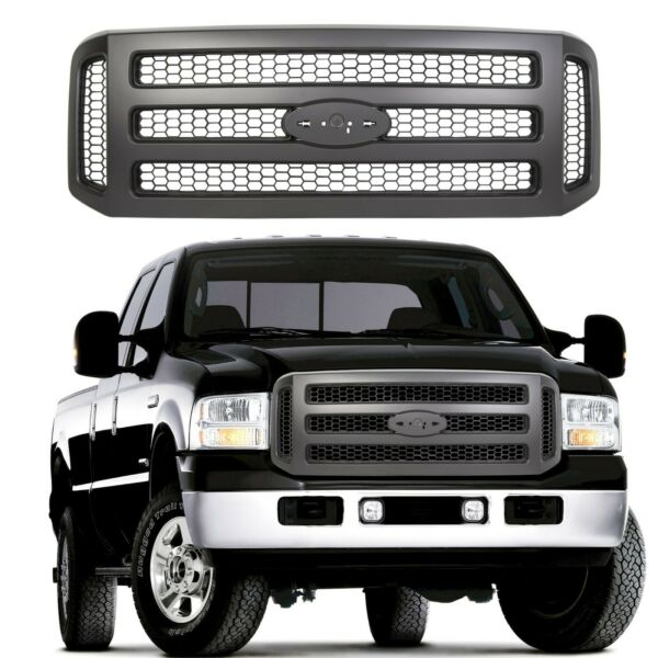 Black Grille For Ford 05-07 Super Duty 99-04 F250 F350 Conversion Grill