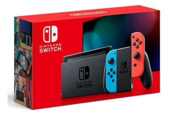 Nintendo Switch Console With Neon Blue & Neon Red Joy Con NEW FAST SHIPPING
