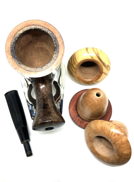 Briar Wood Cherrywood Style Calabash Wooden Tobacco Smoking Pipe Set Handmade
