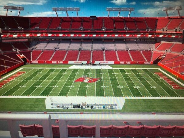 2 TAMPA BAY BUCCANEERS SEASON TICKETS SECTION 336 Row F Pay Half Now