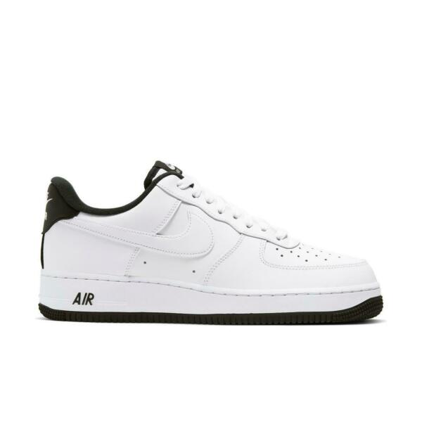 Brand New Men's Nike Air Force 1 Athletic Leather Slip-On Sneakers White