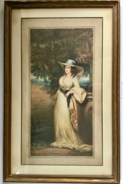 Samuel Arlent Edwards Mezzotint Framed LADY DUDGEON Signed Philip Suval Gallery $145.00