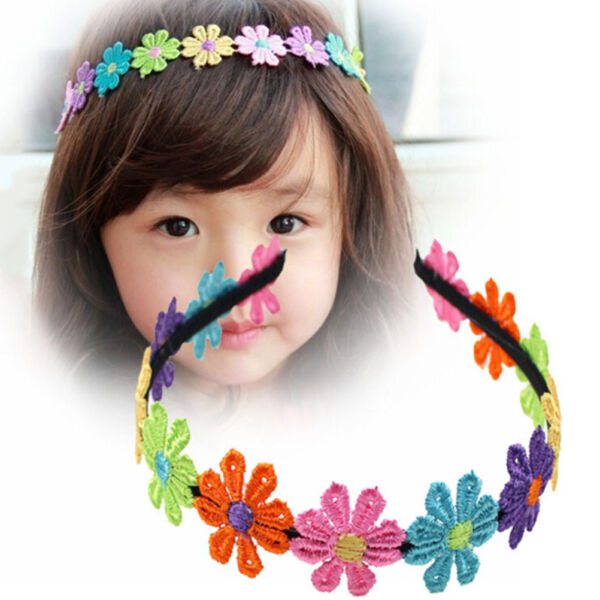 Flowers Hairbands Garland Flower Hairband For Girls Flower Crown Hair Band RS