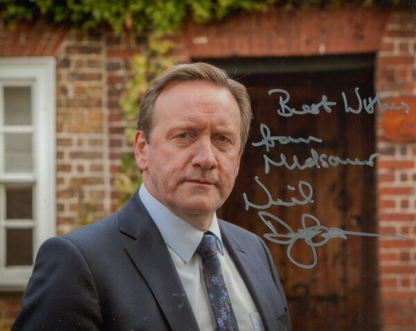Neil Dudgeon signed Midsomer Murders 8x10 Inspector Barnaby photo UACC DEALER GBP 75.00