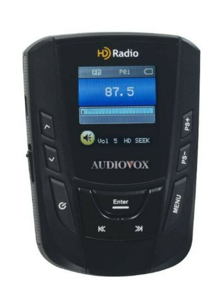 AudioVox IHDP01A Portable HD Radio Player with Belt Clip and Armband