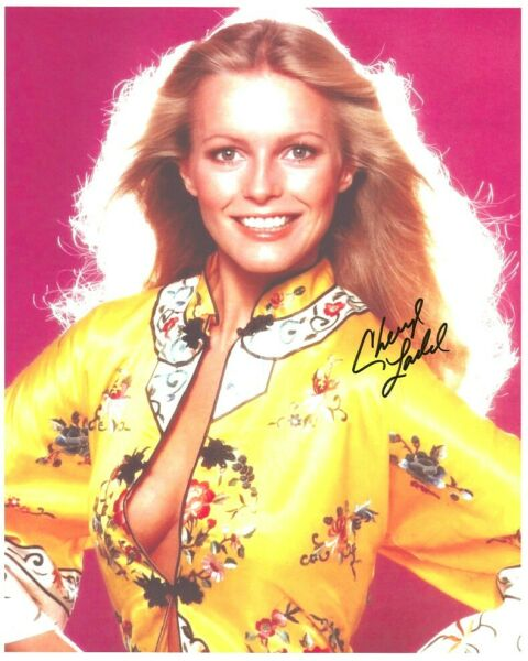 CHERYL LADD signed BUSTY YOUNG SEXY OPEN TOP NO BRA 8x10 w coa CHARLIE'S ANGELS
