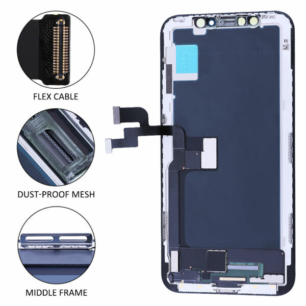 For iPhone X 5.8quot; Display LCD Touch Screen Digitizer Assembly Replacement USA