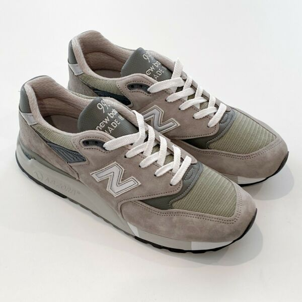NEW BALANCE MENS M998 BRINGBACK PREMIUM SUEDE GREY MADE IN USA HERITAGE SNEAKERS