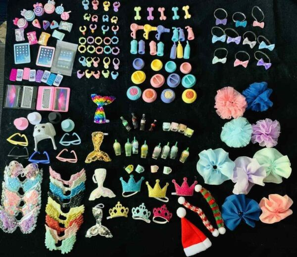 Accessories Clothes Skirt Tutu Wings Santa Hat Drink Collars Bows For lps cats $9.97