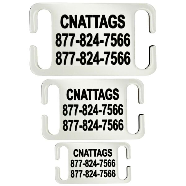 Stainless Steel Slide On Pet ID Tags Dog Tags Personalized $4.95