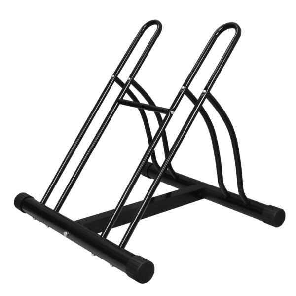 Two Bike Floor Storage Rack Stand Holder Cycle Bicycle School Outdoor Garage $35.99