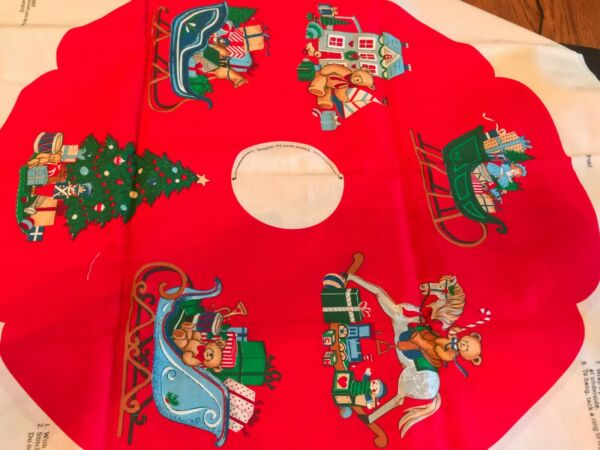 Vintage Panel Home For The Holidays WREATH Cotton Quilt Fabric Cranston 1954