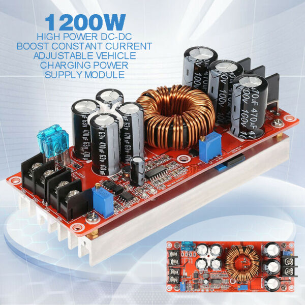 GZ New 1200W 20A DC Converter Boost Power Supply Module Step-up in 8-60V 12-83V