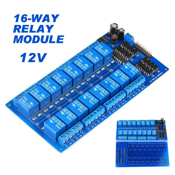 GZ 16 Channel 12V Relay Board Module Protection Power Supply For Arduino PIC