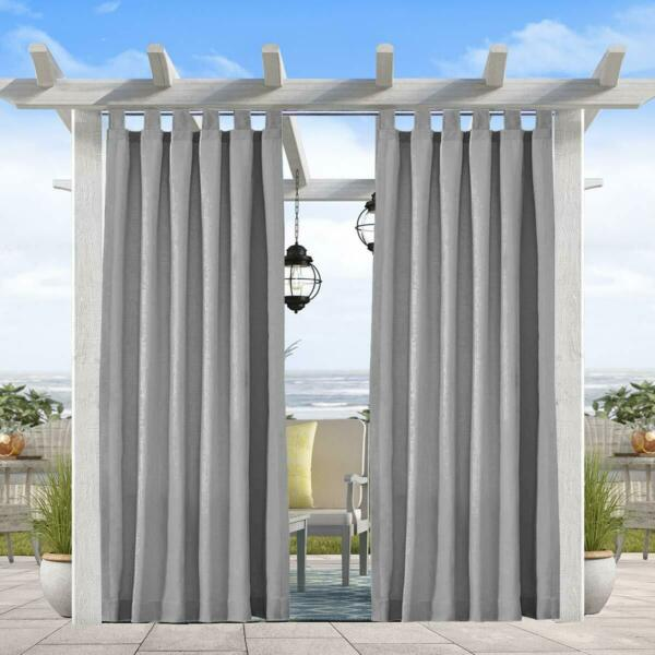 HGmart 50x108 Inch Privacy Outdoor Curtain Panel for Porch Patio WaterproofGrey $28.99