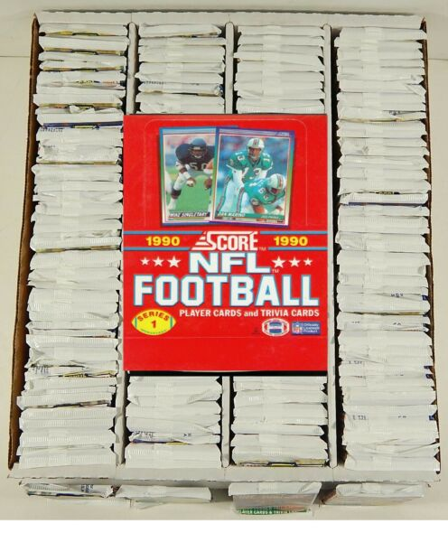 LOT OF (144) 1990 SCORE NFL SERIES 1 TRADING CARD PACKS---NEW FACTORY SEALED