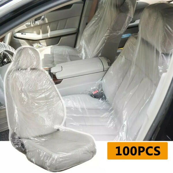 100 pcs Disposable Seat Covers Films PVC Waterproof Universal Fit For Car Truck $24.00
