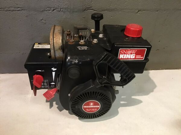Tecumseh Snow Blower Engine 5hp HSSK50 Single Shaft Tested Runs Smooth